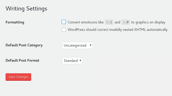 Disable Emoji in WordPress through the Dashboard