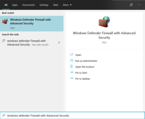 Windows Defender Firewall with Advanced Security