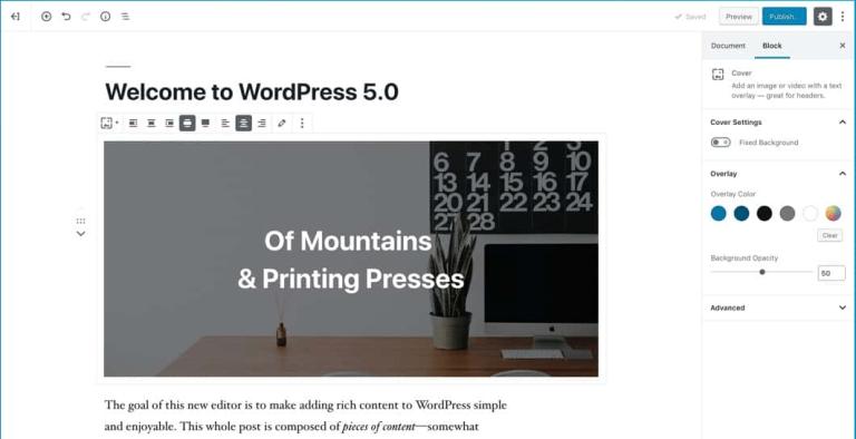 """WordPress 5.0 """"Bebo"""" met Gutenberg uitgebracht"""